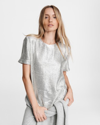 Rag & Bone Gia sequin viscose top