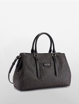 Calvin Klein Jordan Monogram Triple Compartment Satchel