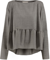 Antonio Berardi Ruffled wool-blend top