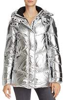 Vince Camuto Metallic Puffer Coat