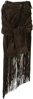 Alexander Wang Tie-Sleeve Fringed Skirt