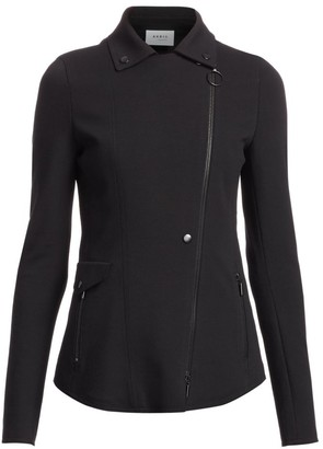 Akris Punto Asymmetric Zip Jersey Jacket