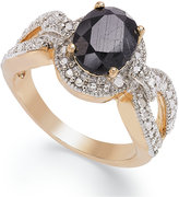 Townsend Victoria 18k Gold over Sterling Silver Midnight Sapphire (2-1/10 ct. t.w.) and Diamond Accent Ring