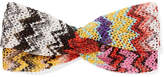 Missoni Metallic Crochet-knit Headband - Yellow