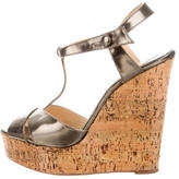 Christian Louboutin Metallic Platform Wedges