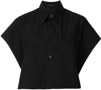 Y's Cropped Cotton Shirt