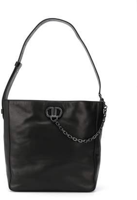 DKNY chain logo plaque shoulder bag