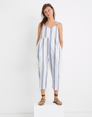 Madewell Striped Tie-Strap V-Neck Cover-Up Jumpsuit