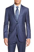 Peter Millar &Flynn& Classic Fit Check Wool Sport Coat