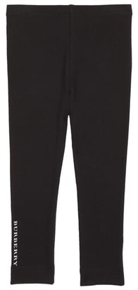 Burberry Logo Stretch Cotton Leggings