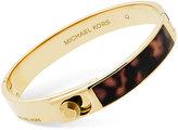 Michael Kors Imitation Tortoiseshell Hinged Bangle Bracelet