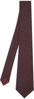 Bottega Veneta Intrecciato-print silk tie