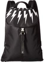 Neil Barrett Fair Isle Nylon Backpack Backpack Bags