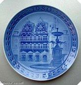 Royal Copenhagen Plate Amagertorv Kobenhavn 1980