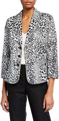 Berek Plus Size Liquid Leopard Printed Woven Jacket