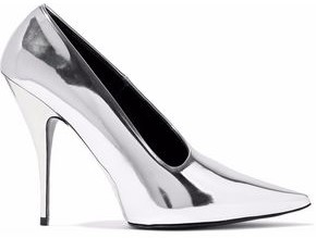 Stella McCartney Faux Mirrored-Leather Pumps
