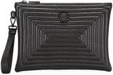 Versace Medusa Labyrinth clutch bag - men - Leather - One Size