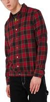 Topman Men's Check Flannel Shirt Jacket