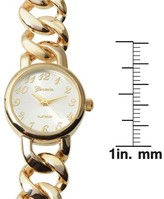 Journee Collection Women's Geneva Platinum Chain Link Wrap Watch -Gold