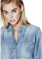 GUESS Women's Cyndi Denim Popover Shirt