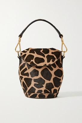 S.Joon - Milk Pail Mini Animal-print Calf Hair Tote - Leopard print