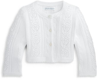 Ralph Lauren Baby Girls Pointelle Cardigan