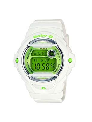 Casio Women's Baby G Quartz 200M WR Shock Resistant Resin Color: with Green Face (Model BG-169R-7C)