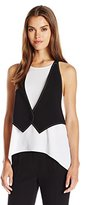 BCBGMAXAZRIA Women's Marcelle Tank with Attached Vest