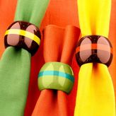Striped Napkin Rings Sets of 6