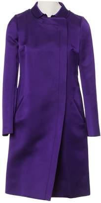 Brioni Purple Silk Coat for Women