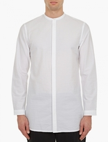 White Longline Cotton Shirt