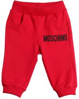 Moschino Logo Print Cotton Sweatpants