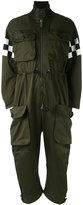 DSQUARED2 checkered arm jumpsuit - women - Cotton - 42