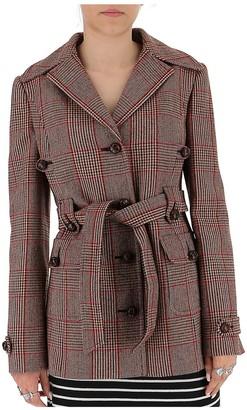 Miu Miu Belted Check Coat
