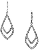 Anne Klein Socialite Double Diamond Drop Earrings