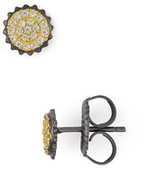 Freida Rothman Round Pave Stud Earrings
