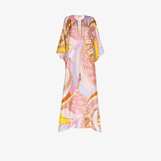 Emilio Pucci Wally-print kaftan dress