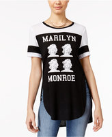 Freeze 24-7 Juniors' Marilyn Monroe Split Graphic T-Shirt