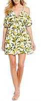 Gianni Bini Molly Lemon Print Dress