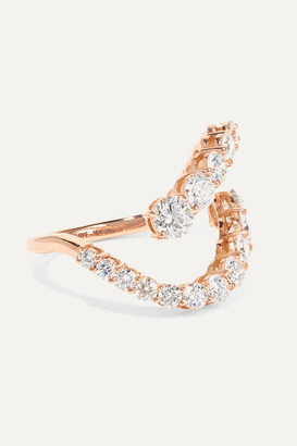 Melissa Kaye Aria Skye 18-karat Rose Gold Diamond Ring - 6