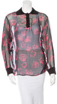 Ungaro Silk Long Sleeve Blouse w/ Tags