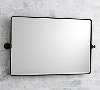 Pottery Barn Vintage Double Wide Rounded Rectangular Pivot Mirror