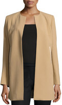 Lafayette 148 New York Bessie Long Wool Jacket, Camel