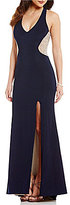 Xscape Evenings Halter Neck Beaded Back Jersey Gown