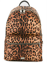 Dolce & Gabbana Volcano leopard print backpack - men - Calf Leather/Nylon/Polyamide/Polypropylene - One Size