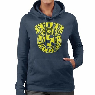 Cloud City 7 Resident Evil Stars Police Logo Women's Hooded Sweatshirt Navy Blue