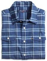Brooks Brothers Boys' Brushed Twill Plaid Shirt - Sizes 4-16