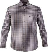 Double Two Button Down Checked Casual Shirt