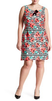 Adrianna Papell Printed Scuba A-Line Dress (Regular, Petite, & Plus Size)