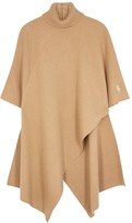 Chloé Camel asymmetric cashmere cape